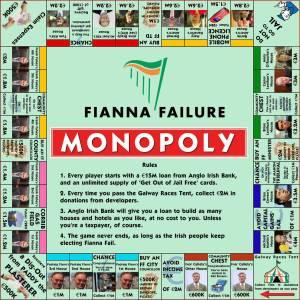 Fianna Failure: Irish Monopoly board