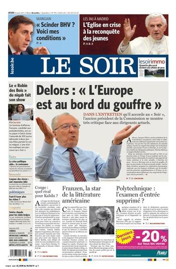 « L'Europe est au bord du gouffre » image : « L'Europe est au bord du gouffre »  L'ancien président de la Commission européenne, Jacques Delors, se montre très critique face aux dirigeants actuels. L'intégralité de l'entretien dans Le Soir en PDF